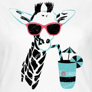 Animal Planet Africa Giraffe With Cocktail - Women's T-Shirt