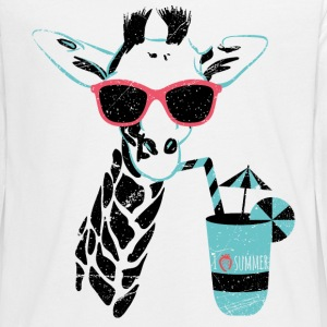 Animal Planet Africa Giraffe With Cocktail - Teenager premium T-shirt med lange ærmer
