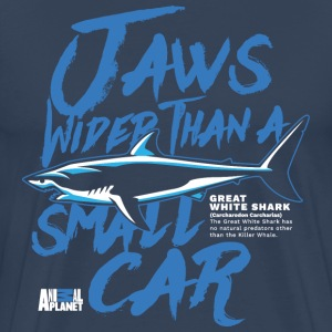 Animal Planet Great White Shark Information - Men's Premium T-Shirt