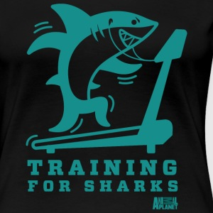 Animal Planet Gym Humour Training For Sharks - Women's Premium T-Shirt