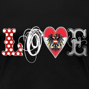 Love Austria White - Frauen Premium T-Shirt