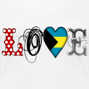 Love Bahamas Black - Frauen Premium T-Shirt