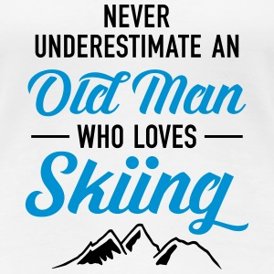 Never Underestimate An Old Man Who Loves Skiing T-shirts - Dame premium T-shirt