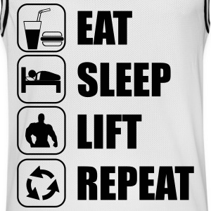 Eat,sleep,lift,repeat - Camiseta de baloncesto para hombre