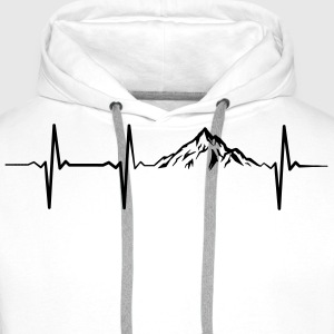 Heartbeat Mountains Pullover & Hoodies - Männer Premium Hoodie