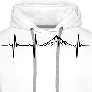 Heartbeat Mountains Sweaters - Mannen Premium hoodie