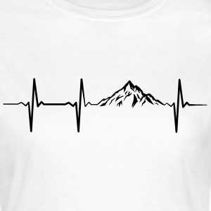 Heartbeat Mountains T-Shirts - Frauen T-Shirt