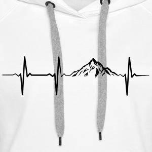 Heartbeat Mountains Pullover & Hoodies - Frauen Premium Hoodie