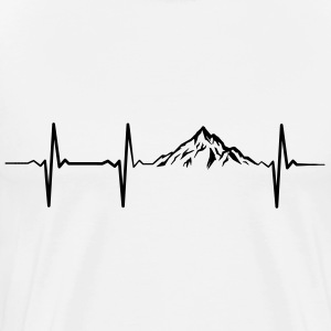 Heartbeat Mountains T-Shirts - Men's Premium T-Shirt