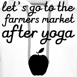 Let's go to the farmer's market after yoga Gensere - Premium hettegenser for menn