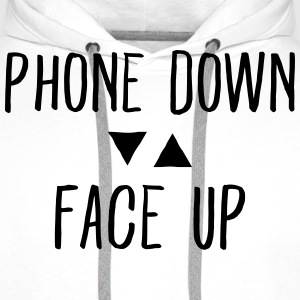 Phone down Face up Felpe - Felpa con cappuccio premium da uomo