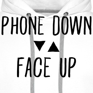 Phone down Face up Sweat-shirts - Sweat-shirt à capuche Premium pour hommes