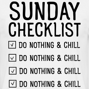 Sunday checklist T-shirts - T-shirt herr
