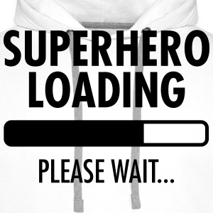 Superhero Loading- Please Wait... Sweaters - Mannen Premium hoodie