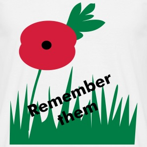 Wear a poppy with pride - Men's T-Shirt