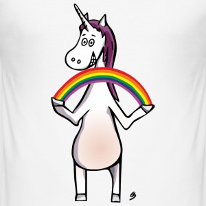 Magic Unicorn - Unicorn and Rainbow T-shirts - slim fit T-shirt