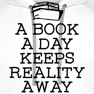 A Book A Day Keeps Reality Away Gensere - Premium hettegenser for menn