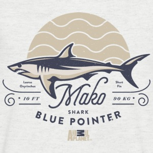 Animal Planet Mako Shark Blue Pointer Vintage - Men's V-Neck T-Shirt