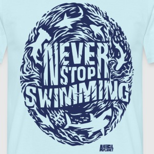 Animal Planet Haie Never Stop Swimming - Männer T-Shirt