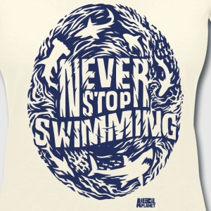 Animal Planet Sharks Never Stop Swimming - Women's V-Neck T-Shirt