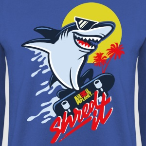 Animal Planet Humour Cool Skateboarding Shark - Herre sweater