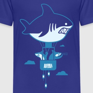 Animal Planet Humour Cool Skateboarding Shark - Teenage Premium T-Shirt