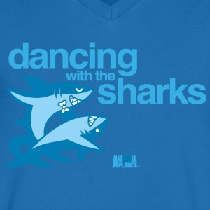 Animal Planet Humour Dancing With The Sharks - Men's V-Neck T-Shirt