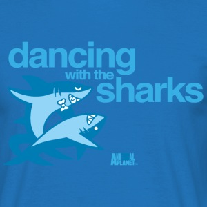 Animal Planet Humour Dancing With The Sharks - T-skjorte for menn
