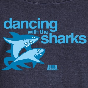 Animal Planet Humour Dancing With The Sharks - Women's Boat Neck Long Sleeve Top