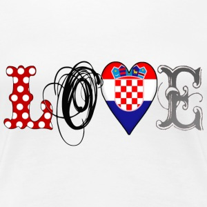 Love Croatia Black - Frauen Premium T-Shirt