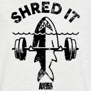 Animal Planet Hai Sport Fitness Shred It - Männer T-Shirt mit V-Ausschnitt