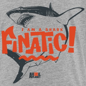 Animal Planet Ocean Humour Shark Finatic - Premium T-skjorte for tenåringer