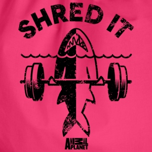 Animal Planet Ocean Humour Gym Shred It Shark - Gymnastikpåse