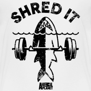 Animal Planet Ocean Humour Gym Shred It Shark - Teenage Premium T-Shirt