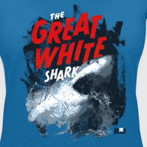 Animal Planet Ocean Cool Great White Shark - Women's V-Neck T-Shirt