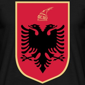 Coat_of_Arms_of_Albania T-Shirts - Männer T-Shirt