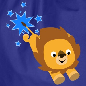 Cute Cartoon Star Lion by Cheerful Madness!! Bags & Backpacks - Drawstring Bag