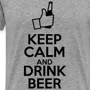 Keep calm and drink beer - Männer Premium T-Shirt