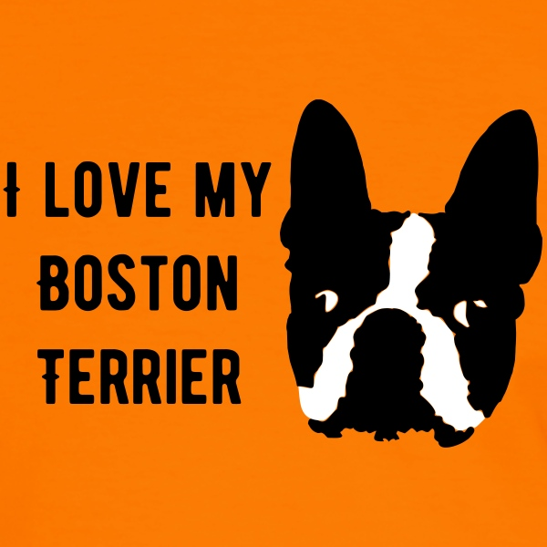 Love my Boston - Herre kontrast-T-shirt