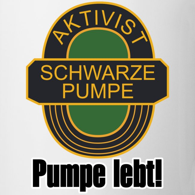 Fan-Tasse: Aktivist Schwarze Pumpe lebt!