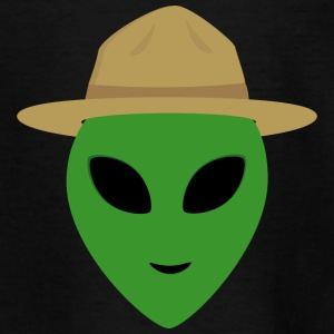 Alien with Park Ranger Hat Shirts - Teenage T-shirt