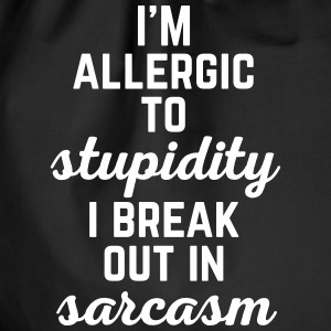 Allergic To Stupidity Funny Quote Bags & Backpacks - Drawstring Bag