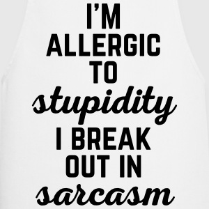 Allergic To Stupidity Funny Quote Grembiuli - Grembiule da cucina