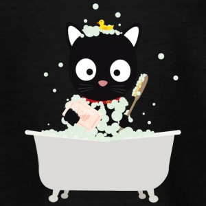 Cat bathing in the tub Shirts - Teenage T-shirt