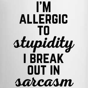 Allergic To Stupidity Funny Quote Mugs & Drinkware - Mug