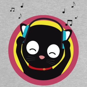 Cat with headphones listening to music Baby Shirts  - Baby T-Shirt