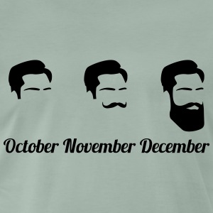 Evolution of Beards Bart Bärte Movember T-Shirts - Männer Premium T-Shirt