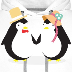 Penguine Couple Sweat-shirts - Sweat-shirt à capuche Premium pour hommes