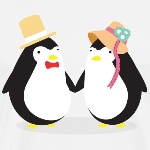 Penguine Couple T-Shirts - Men's Premium T-Shirt