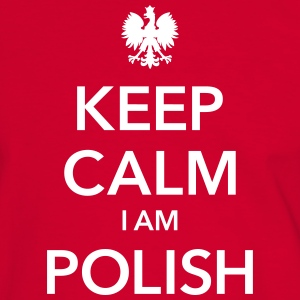 KEEP CALM I AM POLISH T-shirts - Mannen contrastshirt
